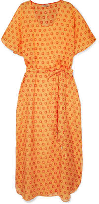 Paloma Blue - Cosmo Printed Silk-chiffon Dress - Saffron