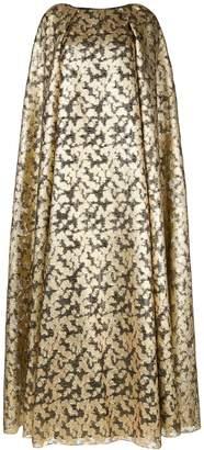 Ingie Paris metallic cape dress