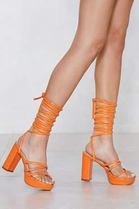 Nasty Gal Raise It Up Platform Sandal