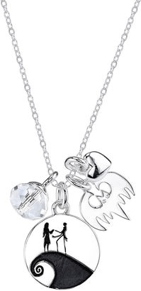 DISNEY Disney Sterling Silver Nightmare Before Christmas Charm Pendant Necklace $156.23 thestylecure.com