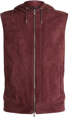Brunello Cucinelli Hooded Suede Gilet