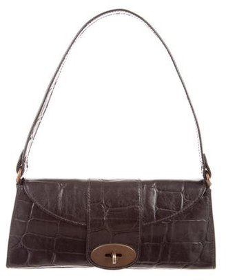 Mulberry Embossed Leather Shoulder Bag $95 thestylecure.com