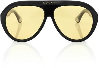 Gucci Navigator acetate sunglasses
