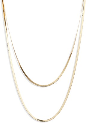 Lana Casino Herringbone Layered Necklace