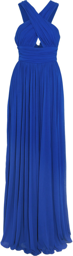 MICHAEL Michael Kors Michael Kors Collection Ruched cutout stretch-jersey gown