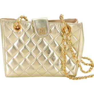Chanel Vintage Gold Leather Handbag