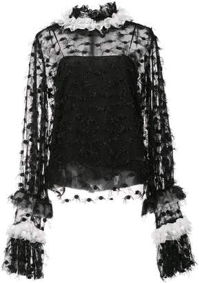 Jourden sheer panel blouse