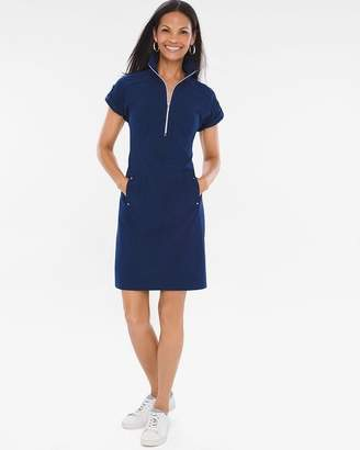 Chico's Zenergy Neema Half-Zip Dress
