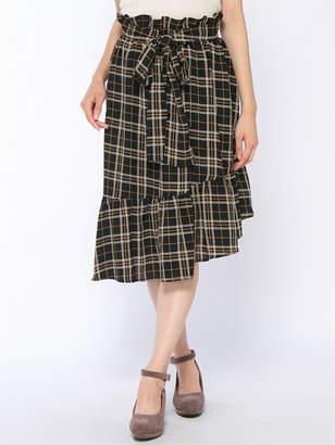 CECIL McBEE (セシル マクビー) - CECIL McBEE アシメヘムレトロチェック柄スカート セシル マクビー スカート