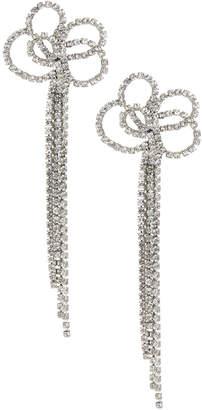 Kenneth Jay Lane Crystal Clip-On Dangle Earrings