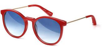 Elizabeth and James Jasper Acetate & Metal Round Sunglasses
