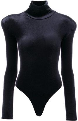 velvet turtleneck bodysuit