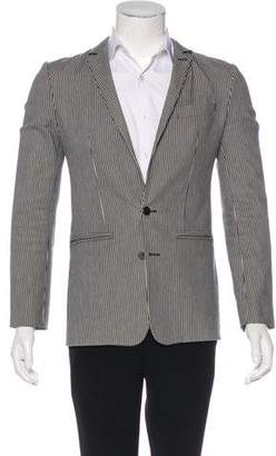 Balenciaga 2007 Pinstriped Woven Sport Coat