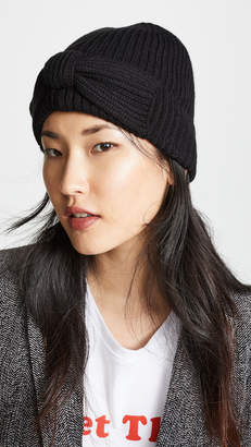 Kate Spade Solid Bow Beanie Hat