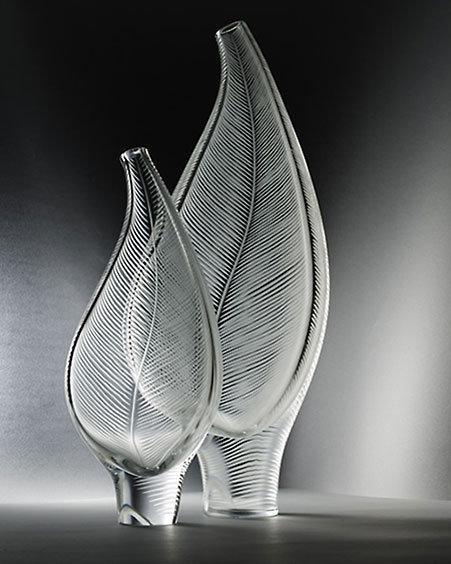 Steuben Sculptural Leaf