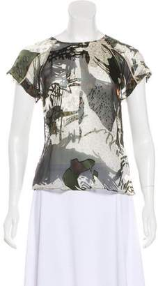 Edun Printed Short Sleeve Top