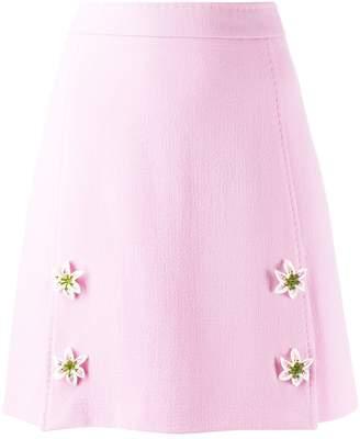 Dolce & Gabbana flower appliqué mini skirt