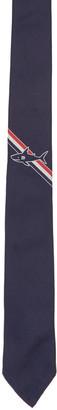 Thom Browne Navy Shark Stripe Classic Tie $220 thestylecure.com