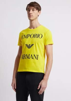 Emporio Armani Lightweight Cotton Jersey T-Shirt With Logo