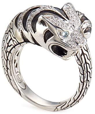 John Hardy Diamond topaz silver macan ring