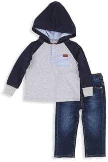 7 For All Mankind Baby Boy's & Little Boy's Two-Piece Sweatshirt and Jeans Set