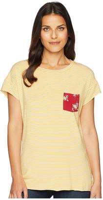 Cruel Printed Pocket Yarn-Dyed Tee Women's T Shirt
