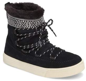 Toms Alpine Faux Fur Lined Leather Boot