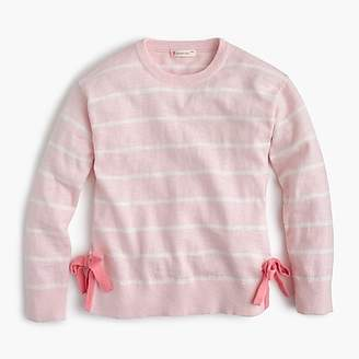J.Crew Girls' striped popover sweater with bows