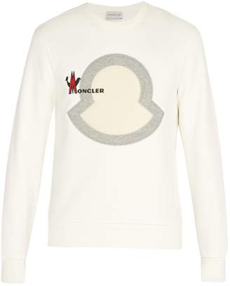 Moncler Logo-embroidered cotton sweatshirt
