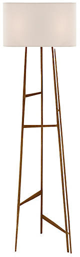 Vail Floor Lamp - Gilded Iron - Visual Comfort & Co.