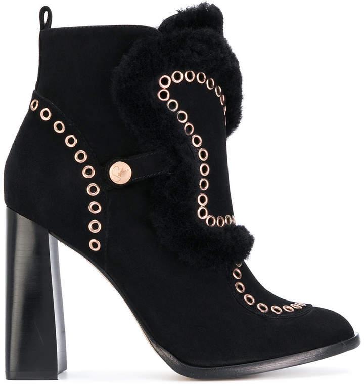 Sophia Webster Karina shearling lined ankle boots
