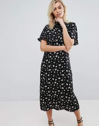 Fashion Union Midi Dress In Floral $49 thestylecure.com