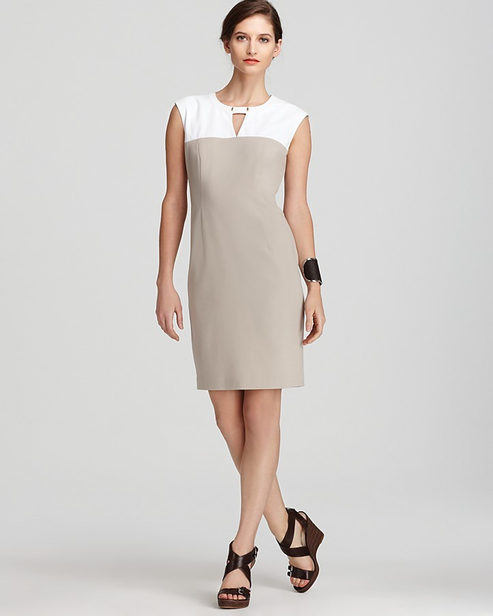 Calvin Klein Sleeveless Dress - Color Block