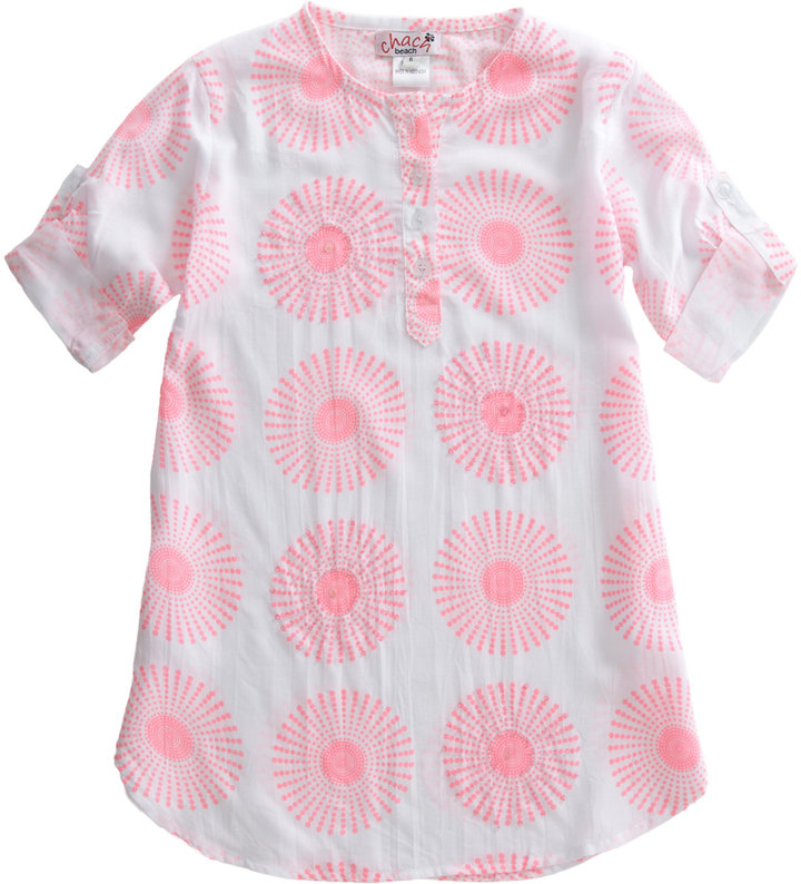 Chach Sun Burst Print Cover-Up