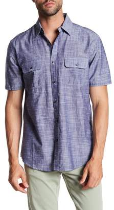 James Campbell Chambray Short Sleeve Regular Fit Shirt