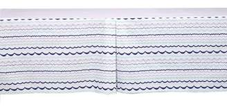 Bacati Noah Tribal Garland Mint/Navy Tailored with 100% Cotton Percale 13 inch drop Crib/Toddler Bed Skirt