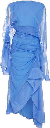 Thierry Mugler Transparent Chiffon Asymmetric Dress
