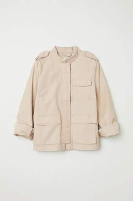 H&M Cotton Cargo Jacket - Beige