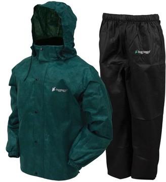Frogg Toggs All Sport Rain Suit, Dark Green Jacket/Black Pants, Size X-Large