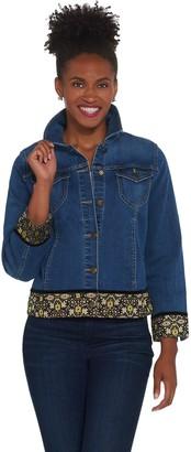 GRAVER Susan Graver High Stretch Antique Indigo Denim Jacket