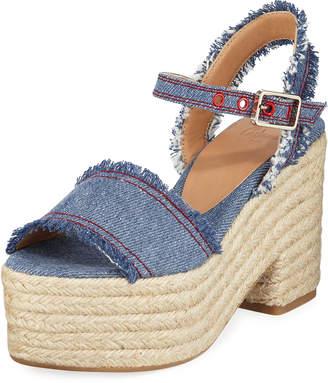 9d334aad0b60 Castaner Xena Denim Platform Sandals