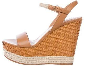 Salvatore Ferragamo Leather Wedge Sandals
