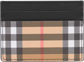 Burberry Sandon Vintage Check Leather Card Case