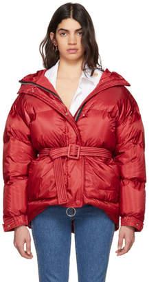 Ienki Ienki Red Michlin Belted Down Puffer Jacket