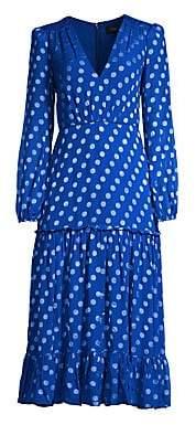 Saloni Women's Devon Polka Dot Ruffle Dress
