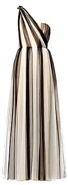 Carolina Herrera Women's Two-Tone Tulle One-Shoulder A-Line Gown