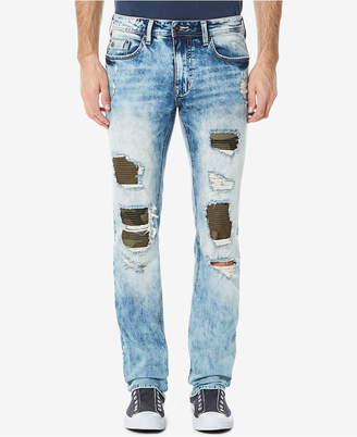 Buffalo David Bitton Men's Evan-X Slim-Straight Fit Stretch Ripped Jeans