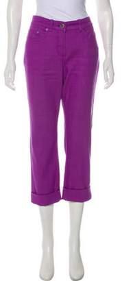 Loro Piana Mid-Rise Straight-Leg Jeans Violet Mid-Rise Straight-Leg Jeans