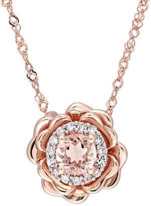 Rina Limor Fine Jewelry Women's 10K Rose Pink Gold, Diamond & Morganite Pendant Necklace