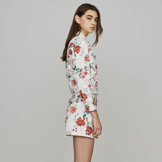Maje Denim jacket with floral print